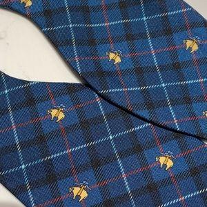 Brooks Brothers Accessories - Brooks Brothers Blue Plaid Logo Adjustable Tie
